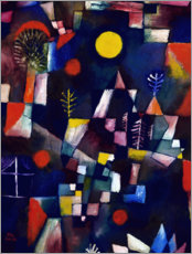 Aluminium print  The full moon - Paul Klee