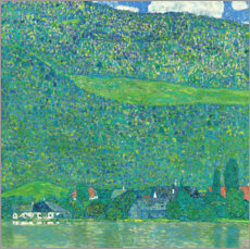 Acrylglas print  Litzlberg on the Attersee - Gustav Klimt