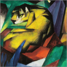 Muursticker  Tiger - Franz Marc