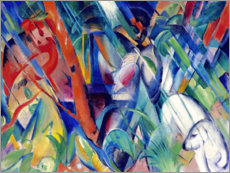 Acrylglas print  In the rain - Franz Marc
