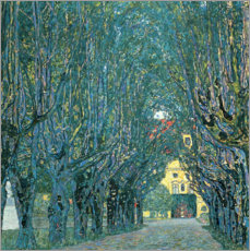 Acrylglas print  Avenue in the Park of Kammer Castle - Gustav Klimt