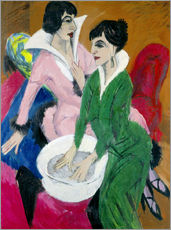 Gallery print  Two women with sink (The Sisters) - Ernst Ludwig Kirchner