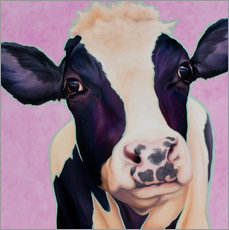 Muursticker  Cow Lotte - Renate Berghaus