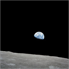 Muursticker  Earth from the Moon - Stocktrek Images