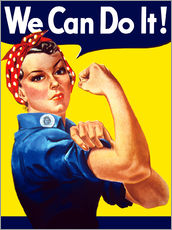 Gallery print  Rosie The Riveter vintage war poster from World War Two - John Parrot