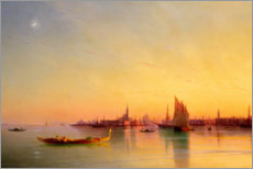 Acrylglas print  Sunset in the bay of Venice - Ivan Konstantinovich Aivazovsky