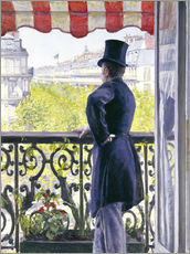 Muursticker  Man on a balcony - Gustave Caillebotte