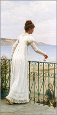 Muursticker  A Favour, 1898 - Edmund Blair Leighton