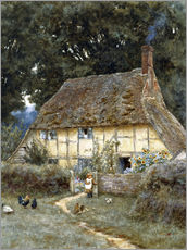 Gallery print  On the Brook Road, near Witley - Helen Allingham