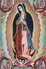 Muursticker  Virgin of Guadalupe - Nicolas Enriquez