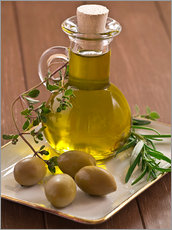 Muursticker  Olive oil and olives - Edith Albuschat