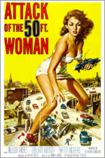 Muursticker  Attack of the 50 Foot Woman