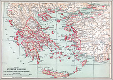 Gallery print  Map of Ancient Greece