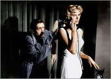 Muursticker  Dial M for Murder, from left: Anthony Dawson, Grace Kelly in 1954