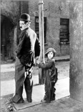 Muursticker  The Kid, Charlie Chaplin, Jackie Coogan, 1921