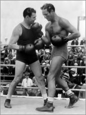 Muursticker  Jack Dempsey and Max Baer