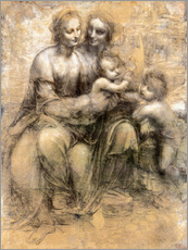 Muursticker  The Virgin and Child with Saint Anne - Leonardo da Vinci