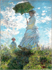 Acrylglas print  Woman with a parasol - Madame Monet and her son - Claude Monet