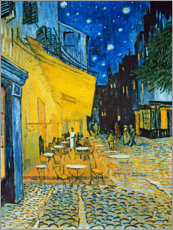 Hout print  Caféterras bij nacht, Place du forum, Arles - Vincent van Gogh
