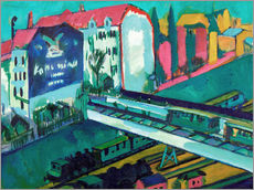 Gallery print  Tram and railway - Ernst Ludwig Kirchner