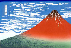 Gallery print  Mt. Fuji in clear weather - Katsushika Hokusai