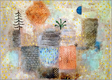 Gallery print  Park with the cool half-moon - Paul Klee