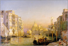 Muursticker  Grand Canal in Venice - Friedrich Nerly