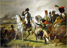 Muursticker  Napoleon Bonaparte, Battle of Wagram 06 July 1809th - Emile Jean Horace Vernet