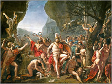 Muursticker  Leonidas on the Thermopylae - Jacques-Louis David