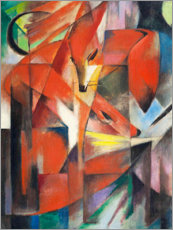Canvas print  Vossen - Franz Marc