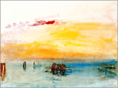 Acrylglas print  Venice, seen by Fusina - Joseph Mallord William Turner