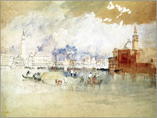 Muursticker  Venice, seen from the lagoon - Joseph Mallord William Turner
