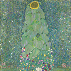 Canvas print  The Sunflower - Gustav Klimt