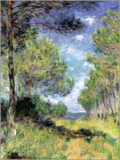 PVC print  Conifers in Varengeville - Claude Monet