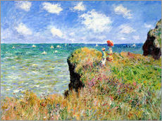 Gallery print  The Cliff Walk at Pourville - Claude Monet