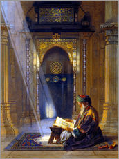 Muursticker  In the Mosque - Carl Friedrich Heinrich Werner