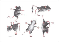 Muursticker Mouse-Gymnastics