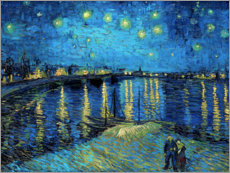 Premium poster  Sterrennacht boven de Rhône - Vincent van Gogh