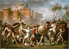 Muursticker  The Sabine Women - Jacques-Louis David