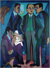 Muursticker  An Artists' Community (The Painters of Die Bruecke) - Ernst Ludwig Kirchner