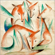 Gallery print  Four foxes - Franz Marc