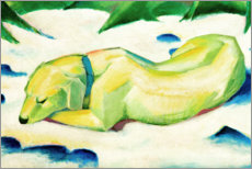 Acrylglas print  Lying dog in the snow - Franz Marc
