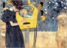 Muursticker  De muziek - Gustav Klimt