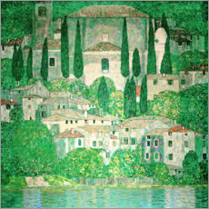 Acrylglas print  Church in Cassone - Gustav Klimt