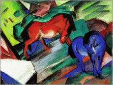 Acrylglas print  Red and blue horse - Franz Marc