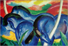 PVC print  Grote blauwe paarden - Franz Marc