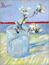 Acrylglas print  Blossoming almond branch in a glass - Vincent van Gogh