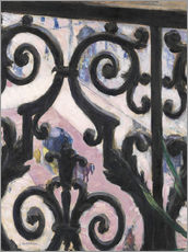 Gallery print  View through balcony grill - Gustave Caillebotte