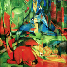 Canvas print  Deer in the forest II - Franz Marc