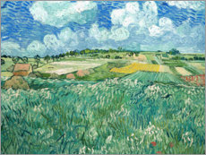 Muursticker  Plain near Auvers with rain clouds - Vincent van Gogh